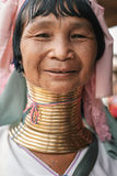 Portrait of Karen long neck woman from Myanmar Royalty Free Stock Photos