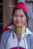 Portrait of Kayan tribe woman in Myanmar. KAYAN STATE , MYANMAR - SEP 09 : Portrait of Kayan tribe woman in Kayan state Myanmar on September 09 2017 , Kayan Stock Photo