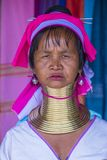 Portrait of Kayan tribe woman in Myanmar. KAYAN STATE , MYANMAR - SEP 09 : Portrait of Kayan tribe woman in Kayan state Myanmar on September 09 2017 , Kayan Stock Photography