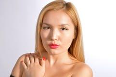 Portrait of Kazakh Woman Stock Photos