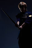 Portrait of a kendo fighter Royalty Free Stock Photography
