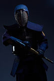 Portrait of a kendo fighter with shinai Royalty Free Stock Photos