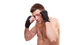 Portrait of a kick boxer Stock Photography