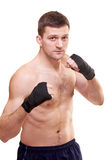 Portrait of a kick boxer Stock Images