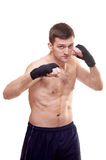 Portrait of a kick boxer Royalty Free Stock Photo