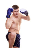 Portrait of a kick boxer Stock Photos