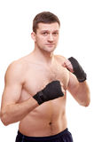 Portrait of a kick boxer Royalty Free Stock Photography