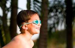 Portrait of kid in backyard Royalty Free Stock Photography