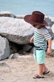 Portrait of Kid On Beach Royalty Free Stock Photos
