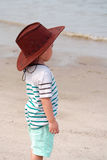 Portrait of Kid On Beach Royalty Free Stock Images