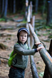 Portrait of a kid in the forest Royalty Free Stock Photo