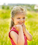 Portrait of  kid outdoor. Stock Photography