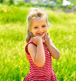 Portrait of  kid outdoor. Stock Images