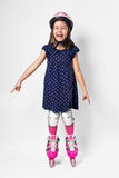 Portrait of kid with roller skate Stock Photography