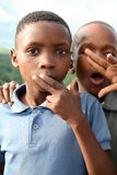 Portrait of kids on the Garden Road, South Africa Stock Photo