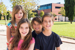 Portrait of kids. Portrait of group of kids on school campus stock images
