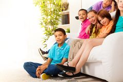 Portrait of kids at home Royalty Free Stock Photos