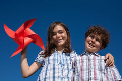 Portrait of kids outdoor Royalty Free Stock Photos