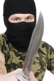 Portrait of the killer with a knife Royalty Free Stock Photography