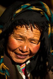Portrait of a kind woman from Tibet Royalty Free Stock Photos