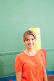 Portrait of a kindergarten teacher. Portrait of a smiling kindergarten teacher Royalty Free Stock Photos