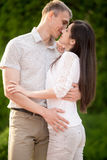 Portrait of kissing couple Stock Photography