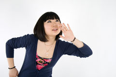 Portrait of a korean girl Royalty Free Stock Image