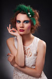 Portrait of l fashionable woman Royalty Free Stock Image