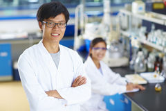Portrait of Laboratory Scientist in the lab Royalty Free Stock Images
