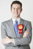 Portrait Of Labour Politician Against White Background Royalty Free Stock Image