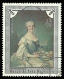 Portrait of a Lady by Louis Tocque Stock Photo