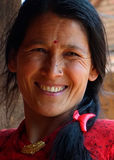 Portrait of lady from Nepal Royalty Free Stock Photography