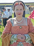 Portrait of Lady in Waiting. In authentic dress of  the  medieval period captured  at the celebration of the centuries held at Fort George on 11 th August 2012 Royalty Free Stock Photos