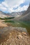 Portrait Landscape of Green Mountain Lake stock image