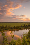 Portrait Landscape of the Red Deer River royalty free stock photo