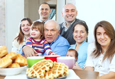 Portrait of large family Stock Photography