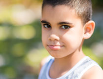 Portrait of a latin child Royalty Free Stock Image