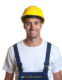 Portrait of a latin construction worker Royalty Free Stock Photo