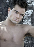 Portrait of a latin male model Stock Images
