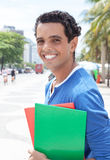 Portrait of a latin student in the city Stock Photos