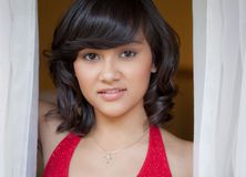 Portrait of Latina/Asian Teenager Stock Image