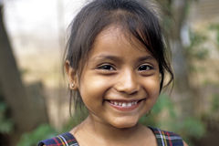 Portrait of Latino girl with radiant face and eyes Royalty Free Stock Image