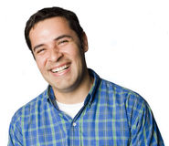 Portrait of an Latino man laughing Stock Image