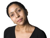 Portrait of Latino woman. Latino woman with Perturbed Expression Stock Image