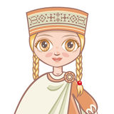 Portrait of the Latvian girl. Avatar Royalty Free Stock Images