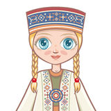Portrait of the Latvian girl. Avatar Stock Images