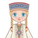 Portrait of the Latvian girl. Avatar Stock Images