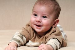 Portrait of Laughing Baby Stock Photos