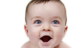Portrait of laughing baby Royalty Free Stock Images