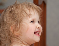 Portrait of a laughing baby girl Stock Photos